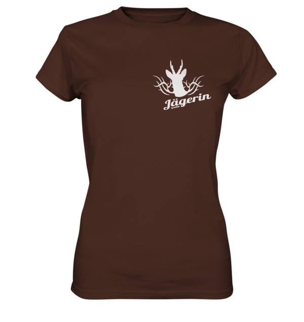 T-Shirt-Damen-Jägerin-braun