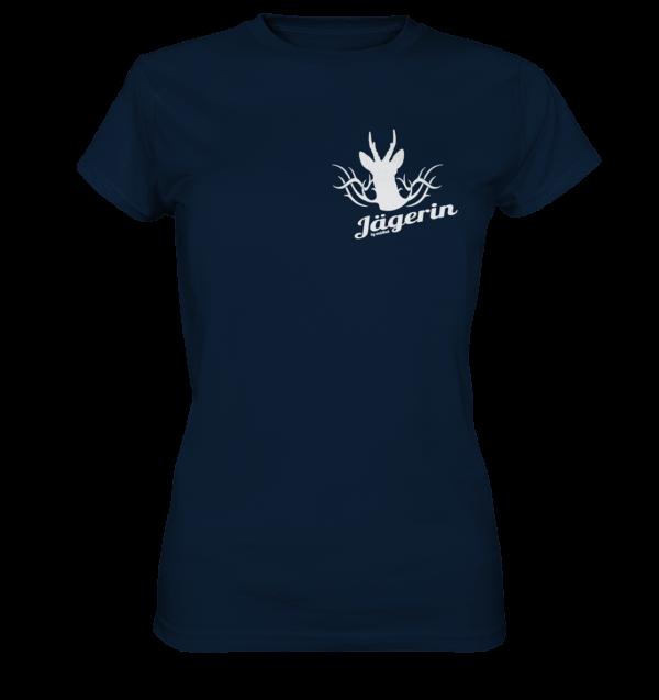 T-Shirt-Damen-Jägerin-navyblue-vorn