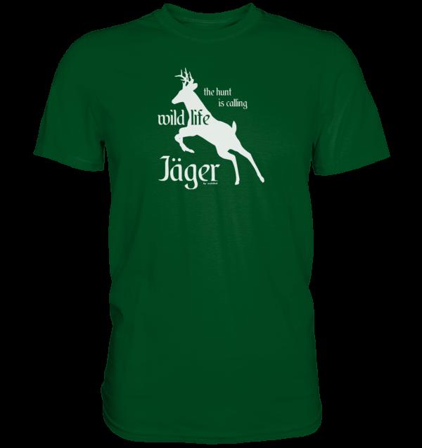 T-Shirt-Herren-wildlife-gruen