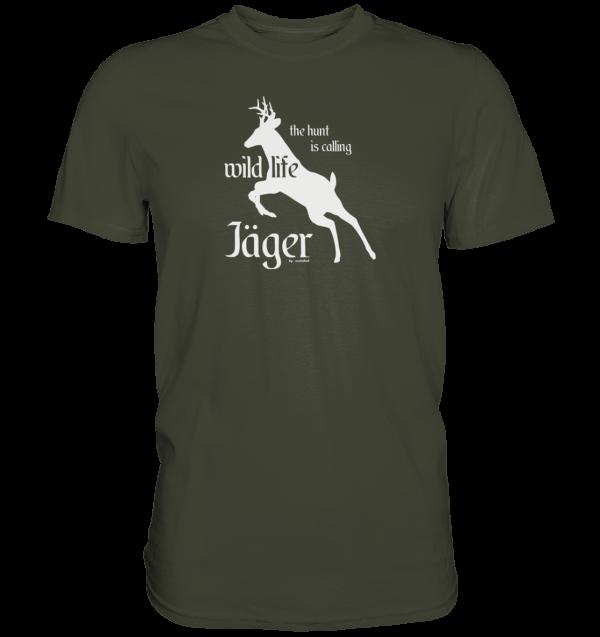 T-Shirt-Herren-wildlife-khaki