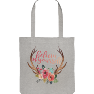 Tasche Jägerin Believe In Yourself floral - Organic Tote-Bag