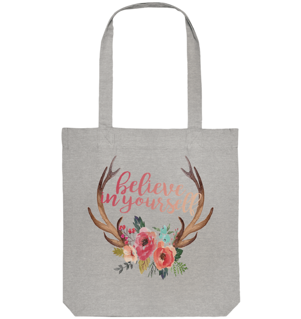Tasche Jägerin Believe In Yourself floral - Organic Tote-Bag