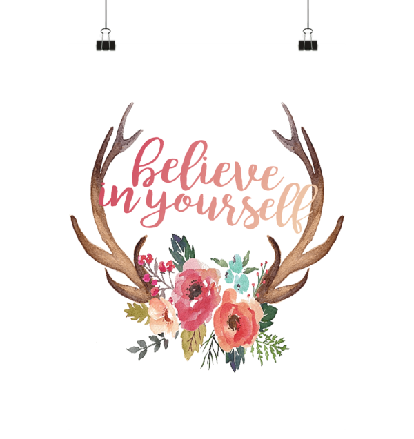 Poster Jägerin Believe In Yourself - Poster Small (A3+)