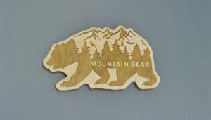 Mountain Bear Bär Kühlschrankmagnet Magnetpin Neodym jagdlich mister-clever