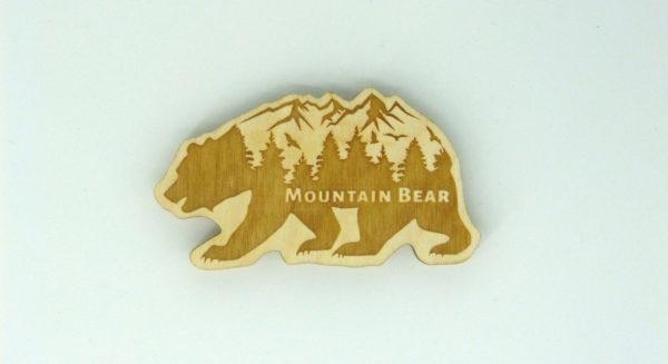 Mountain Bear Bär Kühlschrankmagnet Magnetpin