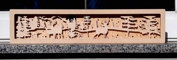 3D Dekoleuchte Hirsche im Wald Vollmond Fensterbank Schwibbogen Untersetzer Erhöhung Rotwild mister-clever (3)