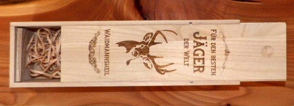 Geschenk Jäger Weinkiste aus Holz Für den besten Jäger der Welt