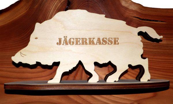 Sparbüchse Wildschwein Jägerkasse aus Holz mister-clever