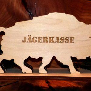 Spardose Wildschwein Jägerkasse Geschenk Jäger mister-clever